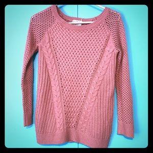 HIPPIE ROSE Loose knit mauve grunge boho sweater M